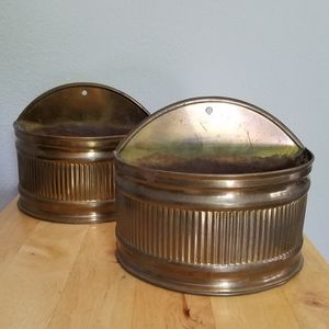 Antique Brass Containers